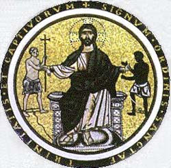 Christ and freed captives, the emblem of the Triniarians
